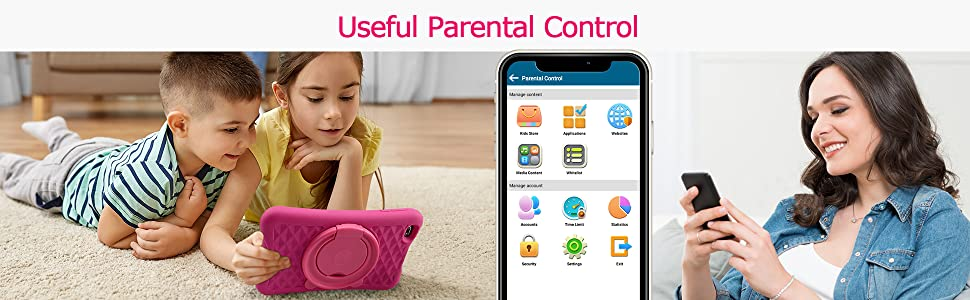 Pritom kids tablet parental control