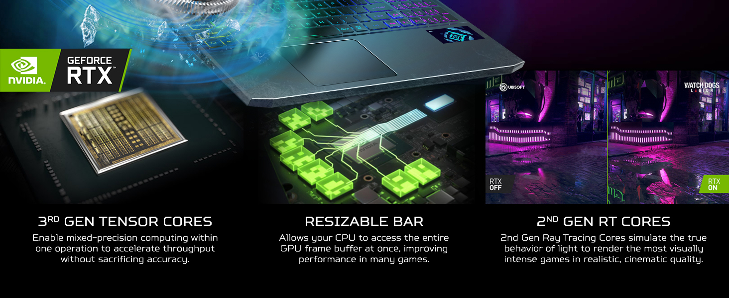 ray tracing ai enhanced artificial intelligence dlss resizable bar dynamic boost gpu tensor cores
