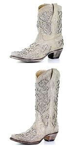 Rhinestone boots chunky block heel knee high boots