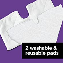 includes 2 washable amp; reusable pads