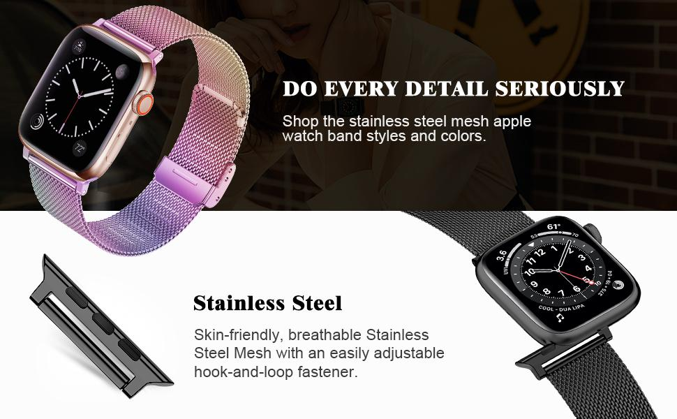 apple watch band stainless steel