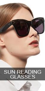 OCCI CHIARI Oversized Reader Sunglasses for Women Reading Sunglasses 1.0 1.5 4.0