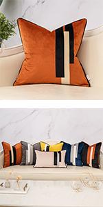 Burnt Orange Throw Pillow Cover