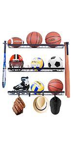 wall mount ball storage racks