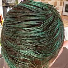 Silver gray hair dye wax