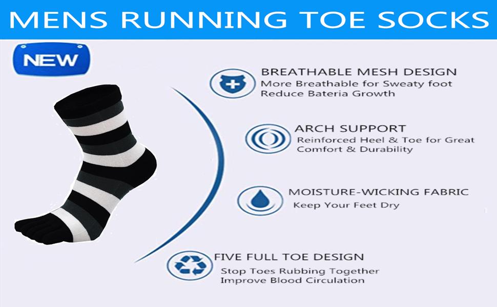 mens running toe socks large plus size 13 five finger socks for men athletic toe socks