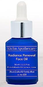 Ktchn Apothecary Radiance Renewal Natural Organic Vegan Face Oil