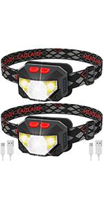 LED USB Rechargeable Headlamp-1100 Lumen  2 pack