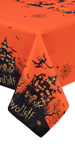 tablecloth orange