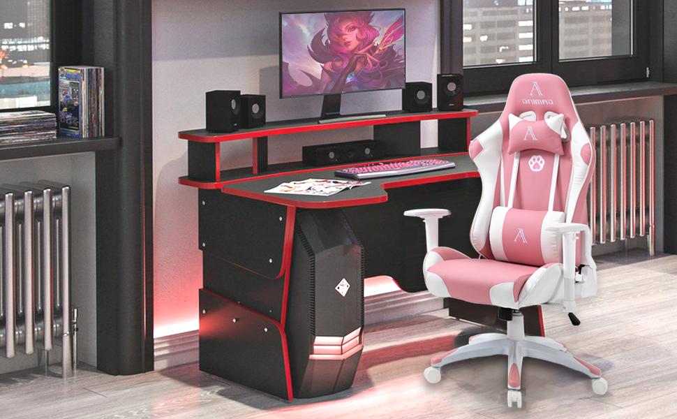 pink computer chair