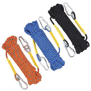 Ropes Diameter: 10//12//14 // 16mm Length: 10//20//30//50 // 100m Jingdun Climbing Rope Outdoor Climbing Mountaineering Equipment Descending Downhill Static Rope fire Safety Escape Rope Lifeline