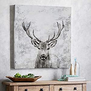 deer wall art for cabin decor