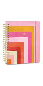 hardcover planner weekly monthly planner High Note 2022 Geometric Hardcover Planner