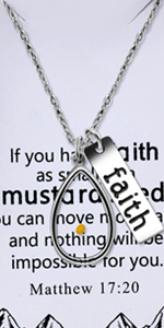 Mustard Seed Necklace with Message Card