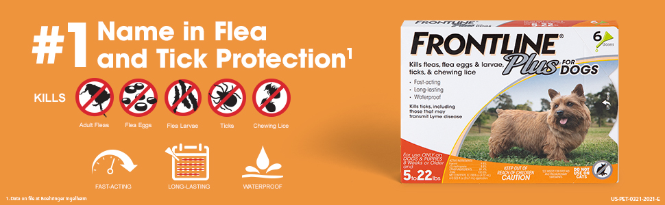 Frontline Plus Flea and Tick Features and Benefits