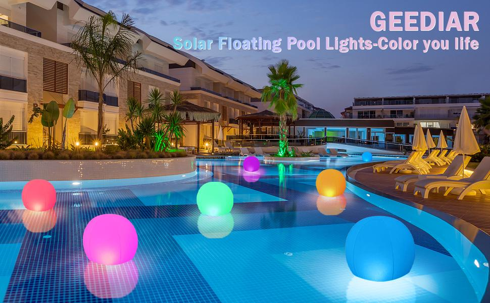 floating lights for pool at night