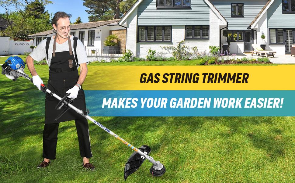 Gas String Trimmer Brush Cutter Straight Shaft  Cordless Grass Edger Weed Wacker Powered Weed Eater