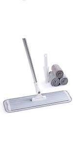 17amp;#34; White Microfiber Floor Mop