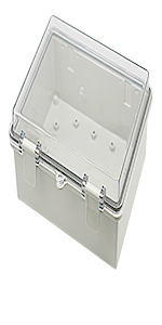 hinged shell project box