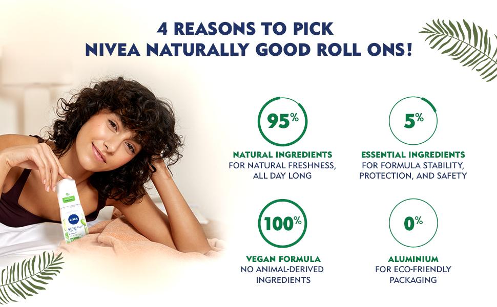 NIVEA,Women,Deodorant,Aloe Vera,Fresh,Natural,Fragrance