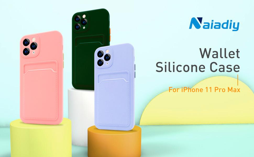 iPhone 11 Pro Max Silicone Wallet Case 1