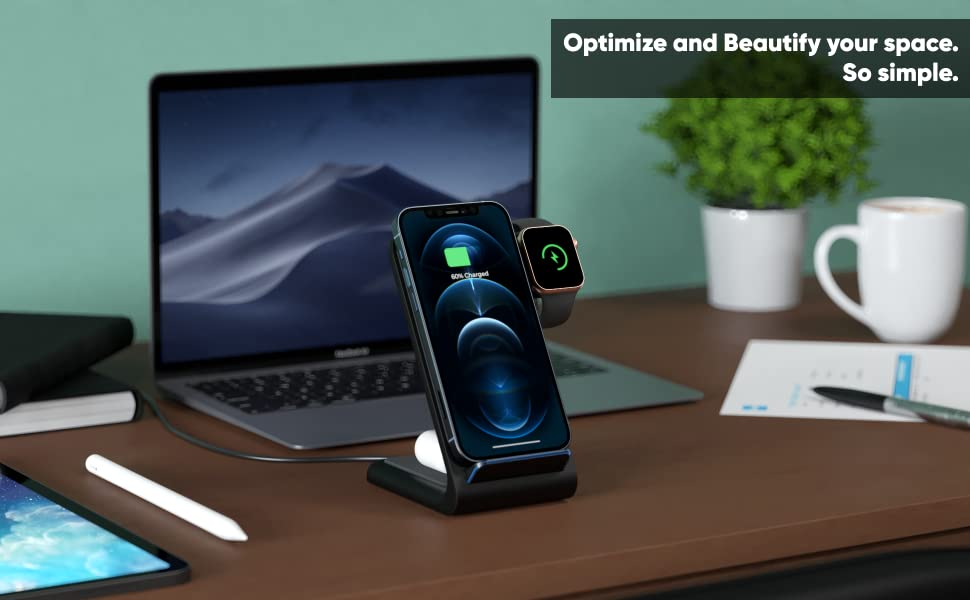 wireless charging station for apple devices charging stand