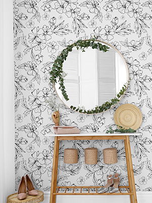 peel and stick floral wallpaper