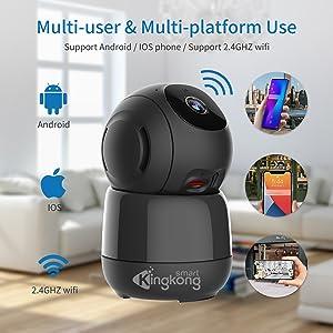 home wifi camera support multi user