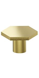 brass hex knobs
