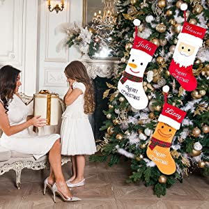 Personalized Christmas Stockings 4 pack