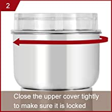 2. Close the upper cover tightly to make sure it is locked.