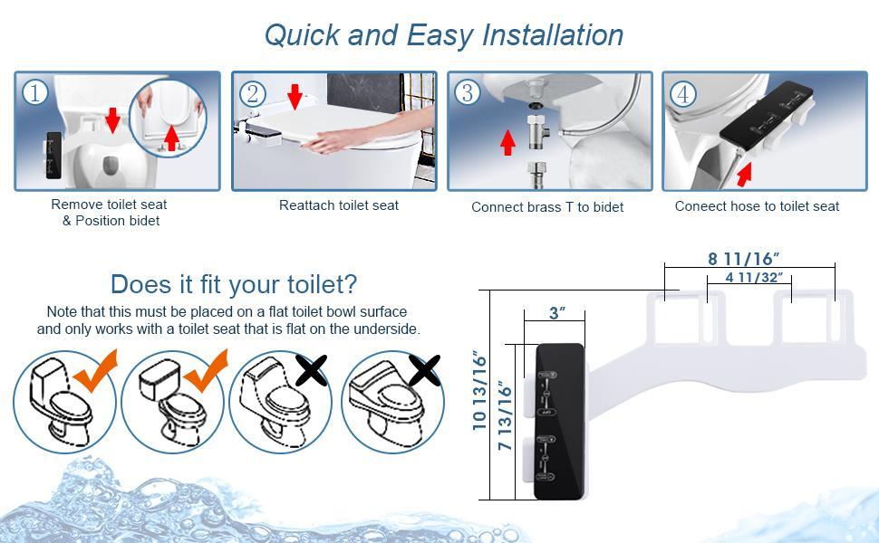 Bidet Toilet Attachment