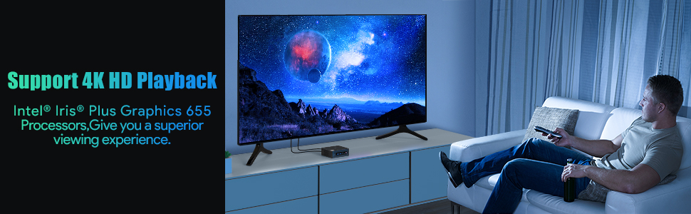 Support 4K@30Hz Dual Screen UHD Display