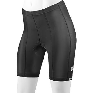 Women's Top Shelf Black Bike Shorts