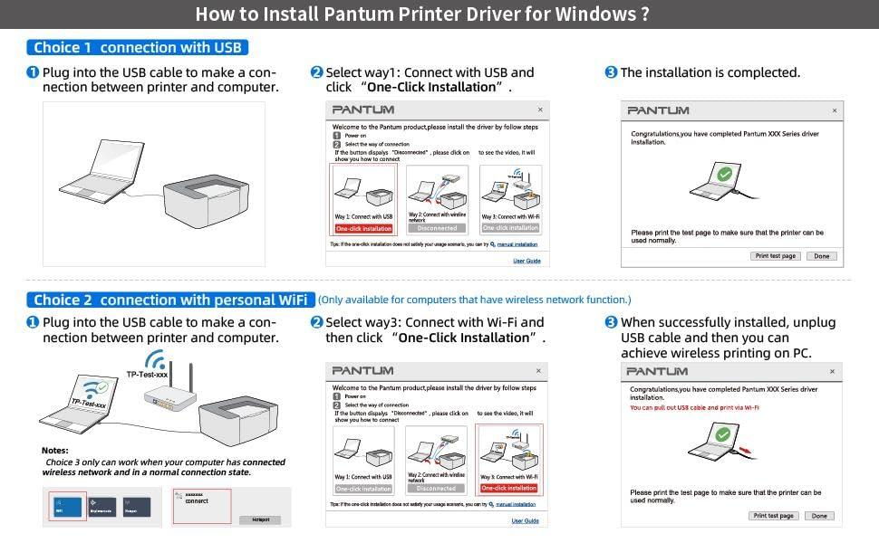 wireless laser printer driver installation