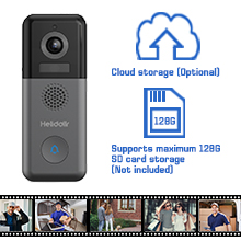 Wireless Video Doorbell with WiFi Chime