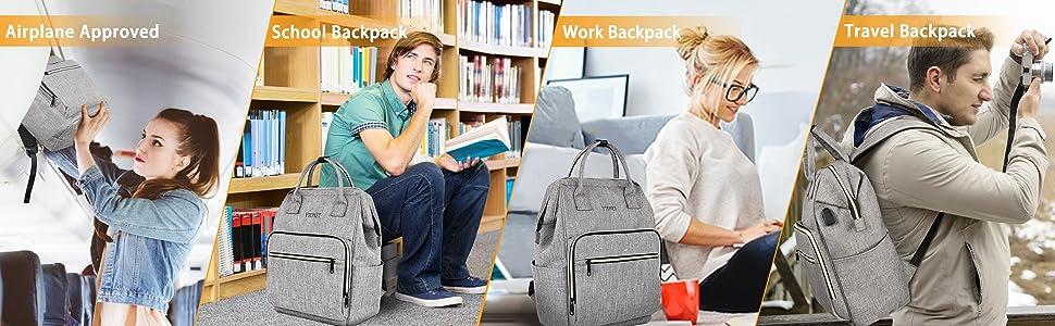 backpack, day pack, lunch backpack for women, travel bookbag, bookbag for women