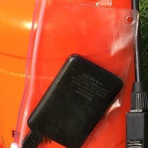 Waterproof bag for battery