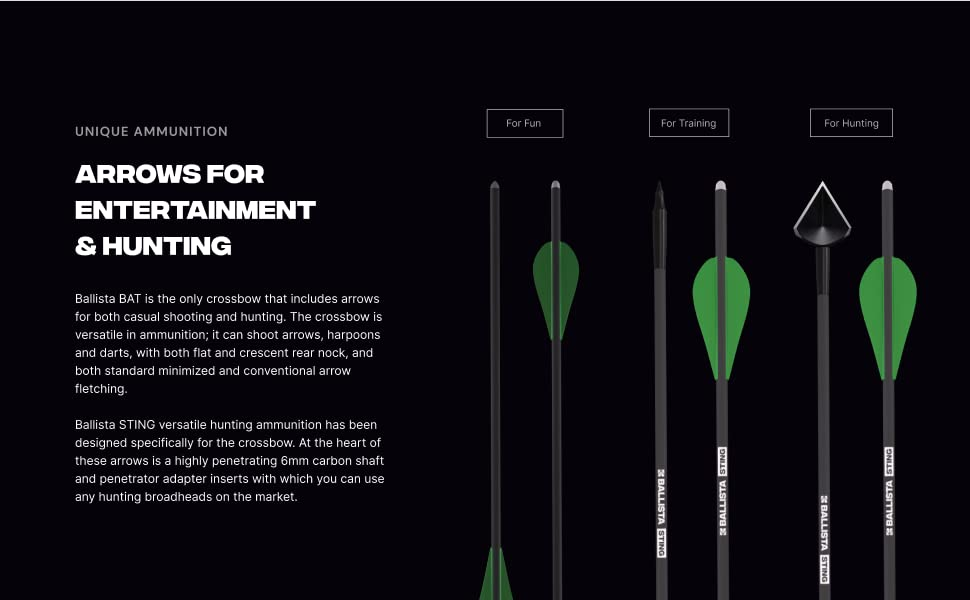 Arrows for entertainment and hunting