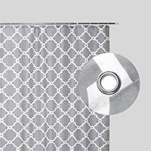 gray print shower curtains