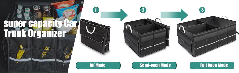 car trunk organizer storage black handle collapsible car trunk organizer cargo nylon