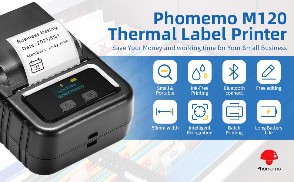 Mini bluetooth portable label printer