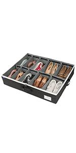 Under Bed Adjustable Dividers Oxford Shoe Storage Organizer