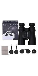 10x42 Waterproof Binoculars, Black