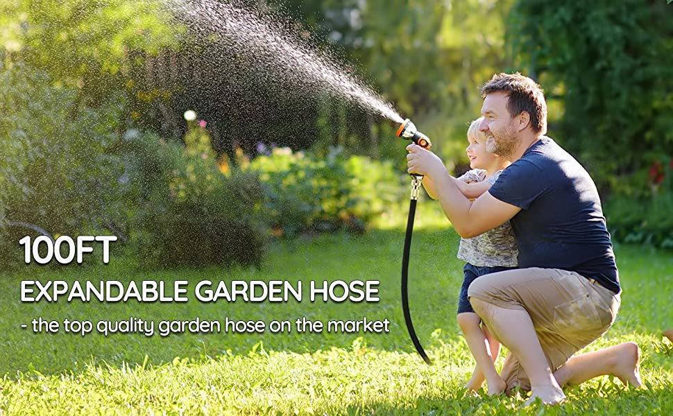 RHM 100FT expandable garden hose, the top quality garden hose on the market!