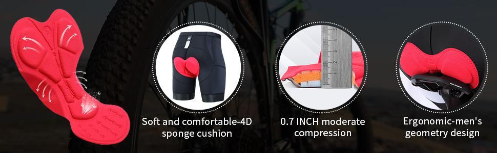 mens bike shorts padded