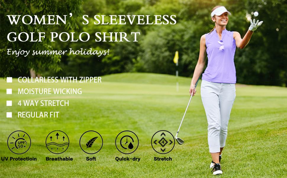 womens sleeveless golf shirt