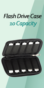 JBOS usb case flash drives holder