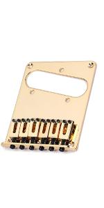 TL style guitar bridge plate gold