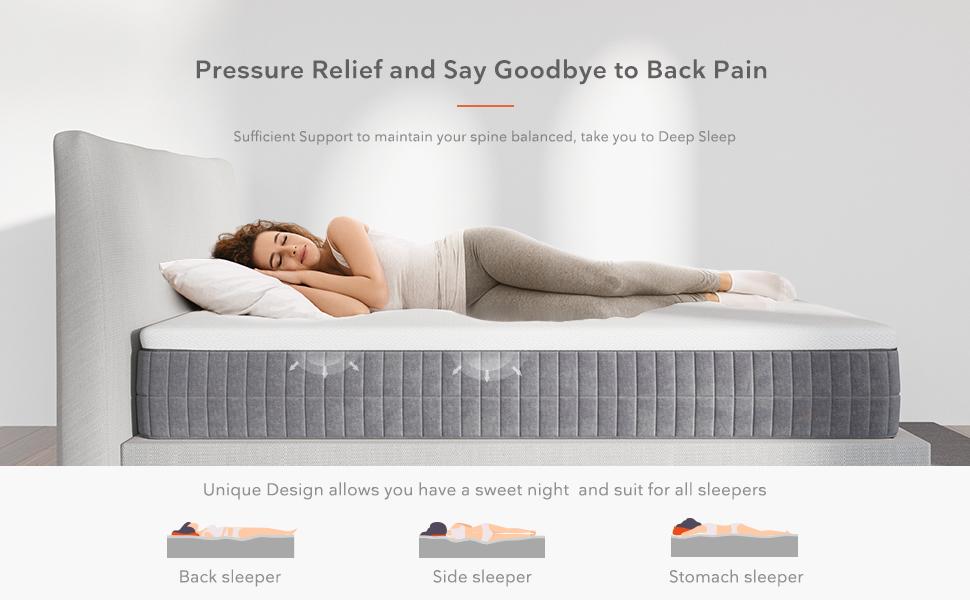 queen size mattress, gel memory foam mattress, queen mattress 12 inches
